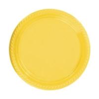 Partistok Sarı Plastik Parti Tabağı 22 Cm 10 Adet
