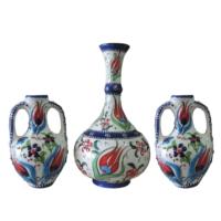 Oğuz Çini 20 Cm Vazolu Set