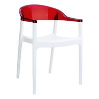 Siesta Contract Carmen Sandalye - Beyaz - Kırmızı