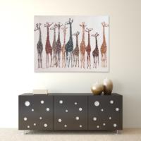 Evstil Zürafalar Yağlı Boya Tablo