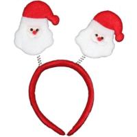 Pandoli İkili Noel Babalı Yaylı Taç