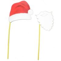 Pandoli Noel Baba Sakal Ve Şapka Karton Set