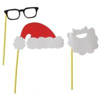 Pandoli Noel Baba Şapka Gözlük Sakal Karton Set