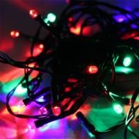 Pandoli Yeşil Kablolu 100 Ampüllü Led Işık Karışık Renk 10 Metre