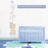 Decor Design Ayıcık Ailesi Boy Ölçer Sticker (Büyüme Tablosu) GUR016