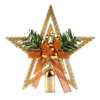 Kikajoy Fiyonk Süslü Yıldız Yılbaşı Çam Ağacı Tepeliği - 1 adet