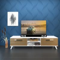 Eyibil Mobilya Güneş 180 cm Gövde Beyaz Kapak Ceviz Tv Sehpası Tv Ünitesi