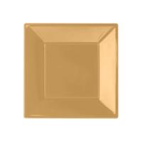 KullanAtMarket Altın Plastik Kare Tabak