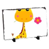 Fotografyabaski Bebek Zürafa Dikdörtgen Taş Baskı 15X20 Cm