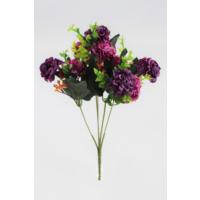 Yapay Çiçek Deposu Kasımpatı Demeti (Mor Pastel Top)