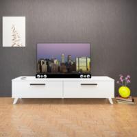 Eyibil Mobilya 180 Cm Parlak Beyaz Tv Sehpası Tv Ünitesi