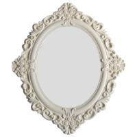 Motifli Ayna 28-001 Krem