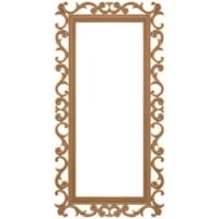 Masifart 8154 Yeni İkon Boy Aynası Cilasız Ahşap