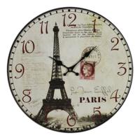 Wenge Home Duvar Saati Paris Eyfel Kulesi 34 Cm