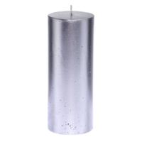 Altıncı Cadde Silver Bar Silindir Mum Silver Rengi 8X19 Cm