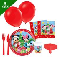 KullanAtMarket Mickey Yılbaşı Parti Seti 8 Kişilik