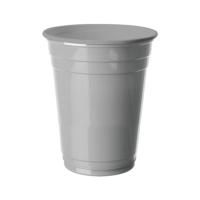 KullanAtMarket Gümüş Plastik Büyük Meşrubat Bardağı