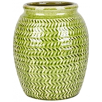 Karaca Home Galina Antik Vazo 25 Cm Green