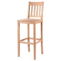 Masifart 7207 Çıtalı Izgaralı Bar Sandalye Cilasız Ahşap