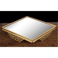 ModaStra Jardinyer Lazerli Stand Altın 40x40 cm