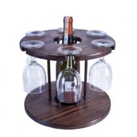 Purupa Ahşap Şarap Ve Kadeh Standı Şaraplık Çam