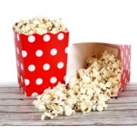 Bkr Popcorn Mısır Kutusu Kırmızı Puantiyeli 100 Adet