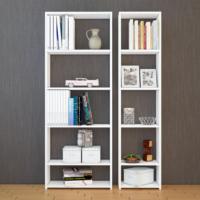 Eyibil Mobilya Bulut 2 ' li Modern Kaliteli Kitaplık Parlak Beyaz