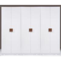 Kenyap Plus 812799 Stella Raflı&Askılıklı&Üç Çekmeceli Altı Kapılı Sonsuz Gardırop-Parlak Beyaz