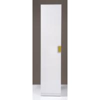 Kenyap Plus 812836 Stella Askılıklı Tek Kapaklı Sonsuz Gardırop-45 Cm-Parlak Beyaz