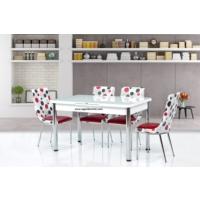 Gül Masa Mutfak Masaları Takımı 6 Adet Sandalyeli Mutfak Yemek Masası