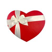 KullanAtMarket Saten Kurdeleli Kalp Kutu Orta Boy