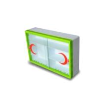 Çelik Ayna Metal Ecza Dolabı Camlı Yeşil