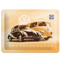 Nostalgic Art Vw Beetle & Bulli Metal Kabartmalı Duvar Panosu (15 X 20 Cm)