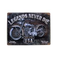 T-Bek Vintage Metal Pano Legends Never Die 30X40
