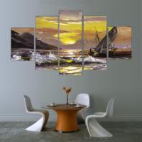 5 Parça Dekoratif Manzara Kanvas Tablo
