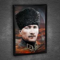 Artmoda Atatürk Çerçeveli Kanvas Tablo