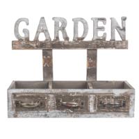 Loveq Çi̇Çekli̇K Ahşap Garden 34,5X11,5X27 Cm, Drn-33948