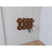 Nav Decoration Ocean Portmanto ve Askılık - Ceviz (60x3,6x60h cm)