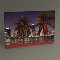 Tablo 360 Miami Skyline Tablo 45X30