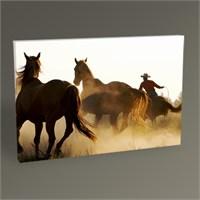 Tablo 360 Cowboy And The Horses Tablo 45X30