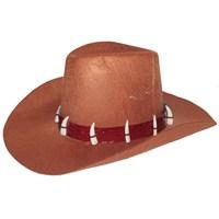 Pandoli Kovboy Şapkası Fildişi Taşlı Model Büyük Boy