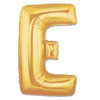 Partisepeti E Harf Gold Folyo Balon