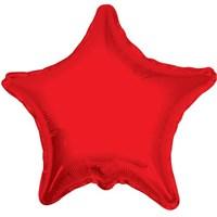 Partisepeti Yıldız Kırmızı Folyo Balon