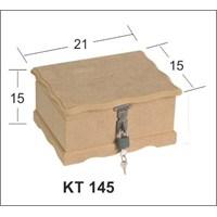 Ahşap Hobi Kilitli Bahşiş-Tip Box-Bağış Kutusu