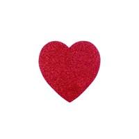 Kullan At Market Simli Kırmızı Kalp Süs 25 Cm