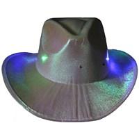 Pandoli Gri Renk Işıklı Kovboy Şapkası