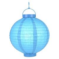 Pandoli 25 Cm Led Işıklı Kağıt Japon Feneri Bebek Mavisi Renk