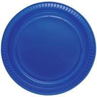 Pandoli Lacivert Renk 22 Cm Plastik Parti Tabağı 25 Adet