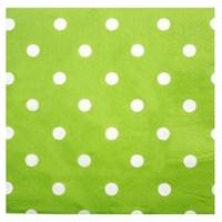 Pandoli Kağıt Parti Peçetesi 33 Cm Yeşil Beyaz Puantiyeli 20 Adet