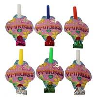 Pandoli 6 Adet Prenses Parti Düdüğü Pembe Renk